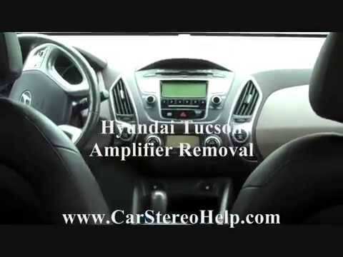 Hyundai Tucson Amplifier Removal