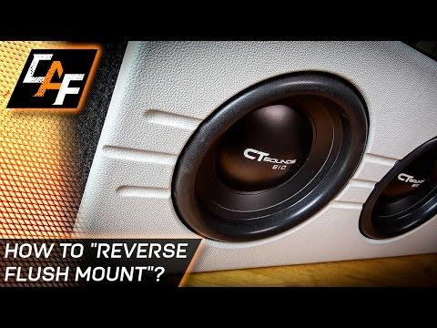 How to Reverse Flush Mount Subwoofer Box Baffle - Custom CarAudioFabrication