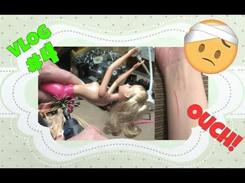 VLOG #4 - 'Behind the scenes' of doll crafting and injuries!