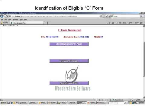 How to get form c and form f in tnvat website