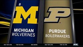 Michigan at Purdue - Football Highlights