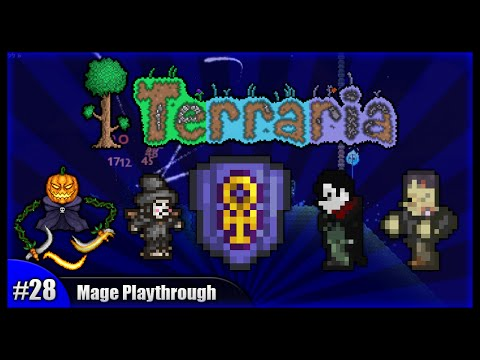Let's Play Terraria 1.2.4    Mage Class Playthrough    Eclipse, Pumpkings & Ankh Charm! [Episode 28]