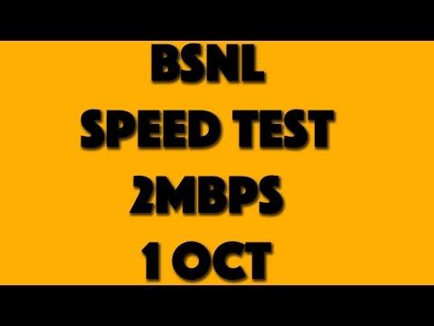 BSNL Broadband 2 Mbps Speed Test on 1 Oct | Revised Plan