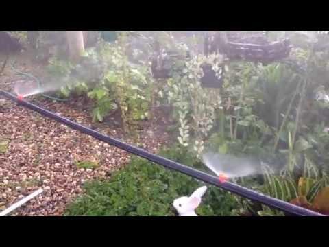 DIY Mini Sprinkler Orange 180 Watering in Garden Lawn Misting 7