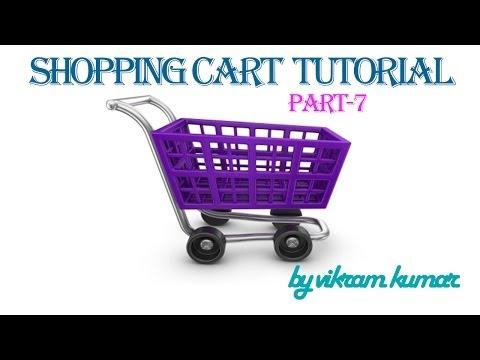 shopping cart tutorial in hindi part - 7 - cart page