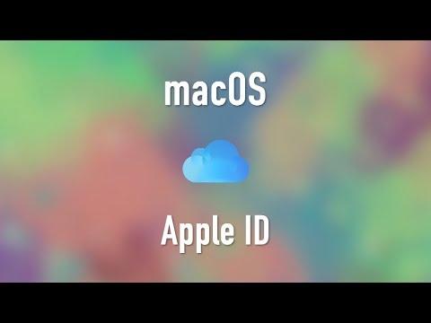 macOS: Apple ID
