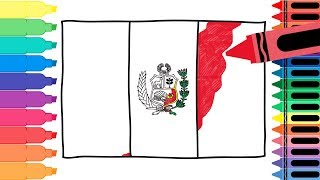 How To Draw Peru Flag