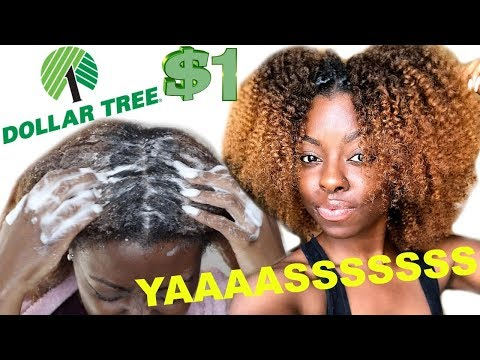 DOLLAR STORE HAIR PRODUCTS ON TYPE 4 HAIR   WASH  + TWIST OUT   WE BEEN SLEEEEP