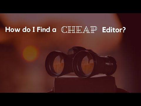 How do I Find a Cheap Editor?