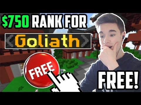 This player WON the RAREST RANK on the server! *$750 VALUE* (Minecraft Skyblock)