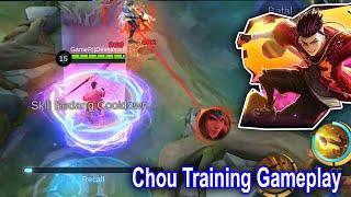 Chou on Training Gameplay New SKIN S.T.U.N. Mobile Legends 515