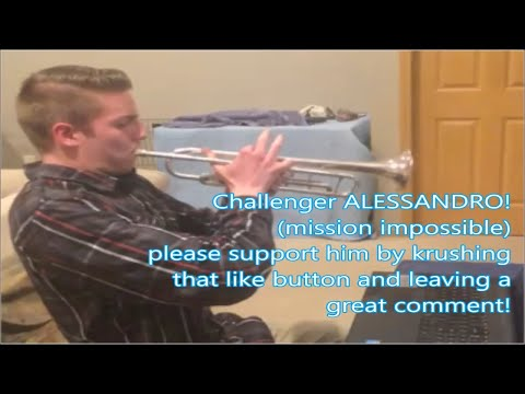 CHALLENGER ALESSANDRO mission impossible trumpet challenge by Kurt Thompson