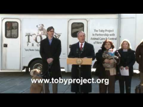 The Toby Project ** Mayor Bloomberg Announces Partnership in an Effort to End Pet Overpopulation