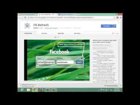 How to Change FB Login Screen Background Picture