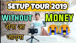 Without Money My New Cheap Youtube Setup Studio Room Desk Tour India 2019 | How I Shoot My Videos