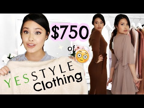 $750 OF CLOTHING FROM YESSTYLE HAUL | QUALITY REVIEW + TRY-ON!