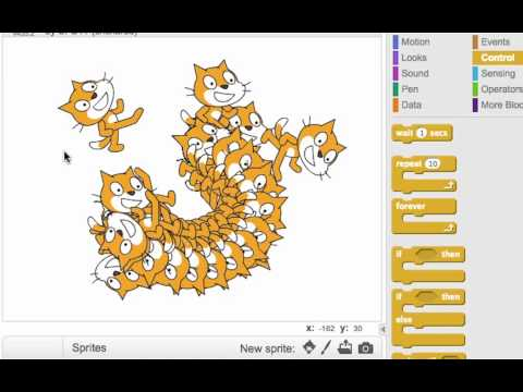 Drawing with Stamps in Scratch