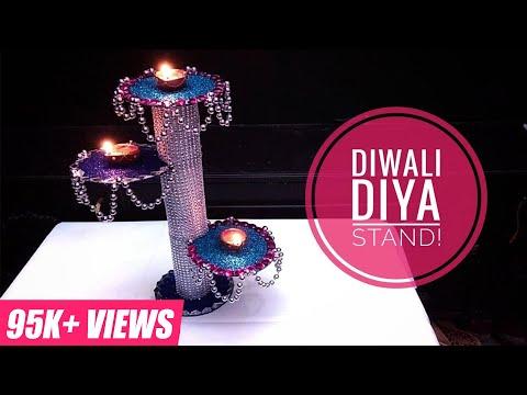 DIY Diwali Home Decoration Ideas : How to Make Diwali Diya Stand From Cardboard |SIMPLICITY