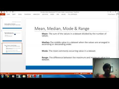 Calculator Active  Mean, Median, Mode & Range TI 73