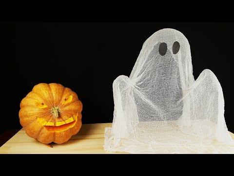 DIY Ghost Pumpkin Halloween