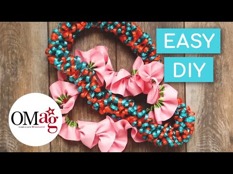 DIY Ribbon Leis 2 Ways | OMaG | American Girl