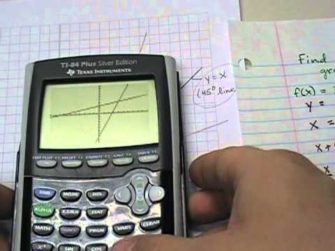 finding inverse functions and graphing them