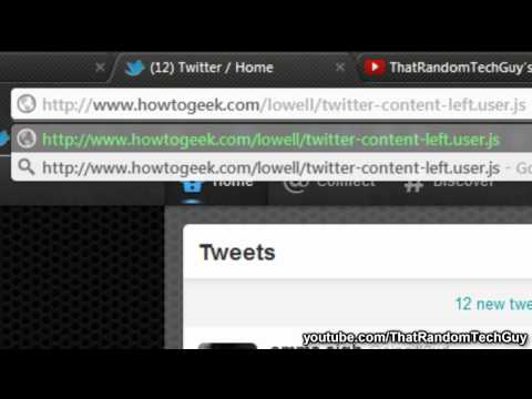 Tip - Move Twitter Timeline Back to the Left (NEW UPDATE)