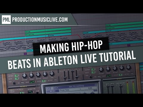 Making Hip Hop Beats in Ableton Live Tutorial Rap RnB Black Old School DRE Style Walkthrough