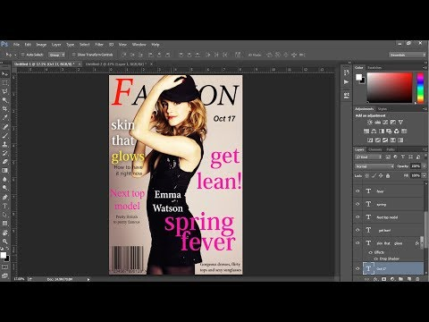 How to Stylize a Magazine Cover in Photoshop cc 2014