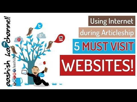 CA Articleship - Using internet during CA articleship - 5 MUST VISIT websites   MUST WATCH!