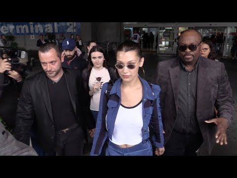 EXCLUSIVE : Bella Hadid arriving at Nice airport for Cannes Film Festival