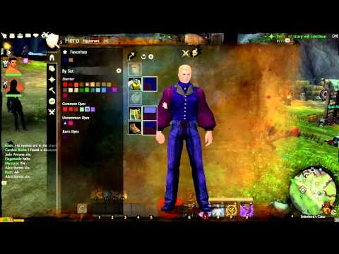 Guild Wars 2 BWE - Achievements, Equipment, Town Clothes, Dyes, waiting for the end of beta
