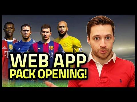 WEB APP PACK OPENING! - FIFA 15 Ultimate Team
