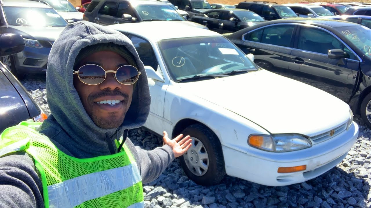 PICKING UP A OLD TOYOTA CAMRY I BOUGHT FROM COPART! *BUT I MIGHT HAVE OVERPAID FOR IT*
