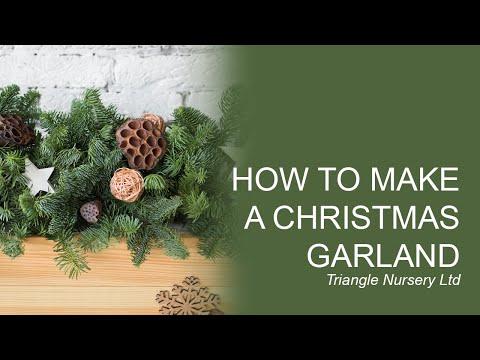 DIY How to Create a Christmas Garland