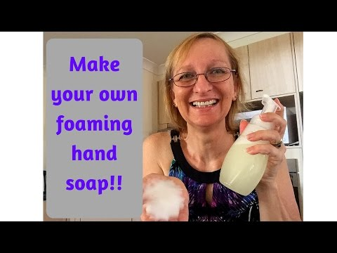 How to make your own foaming hand soap - so EASY!!