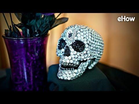 DIY Gemstone Studded Skull