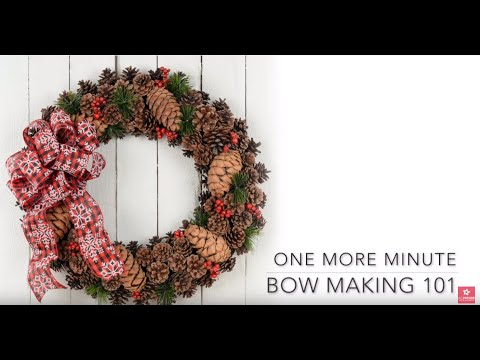 One More Minute: How to Make a Holiday Bow