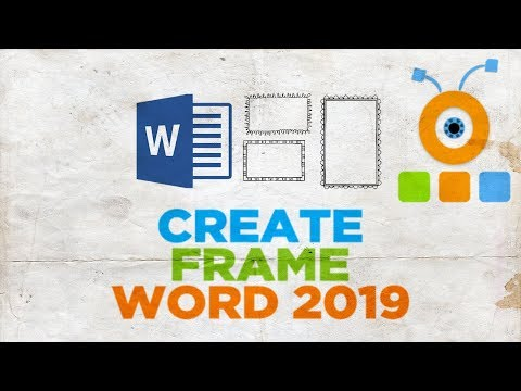 How to Create a Frame in Word 2019   How to Create a Page Border in Word 2019