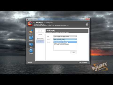 Securely erase a hard drive with CCleaner.mp4