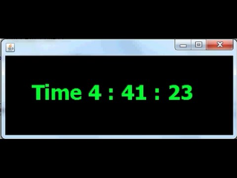 Making a Digital Clock in java Netbeans Part 2/3