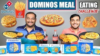 DOMINO'S MEAL EATING CHALLENGE | Pizza Eating Competition | Food Challenge