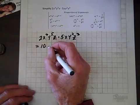 Introductory Algebra Exponent Properties