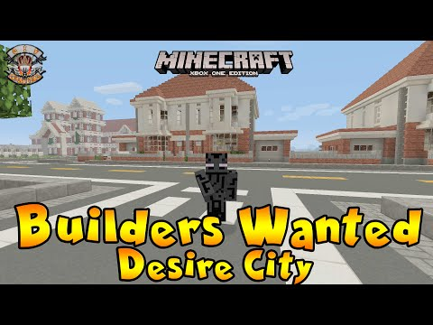 Minecraft Xbox One City Build - Builders Wanted Now!