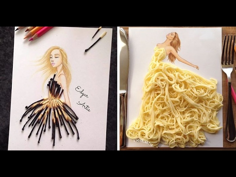 Part 1 Armenian Fashion Illustrator Creates Stunning Dresses From Everyday Objects