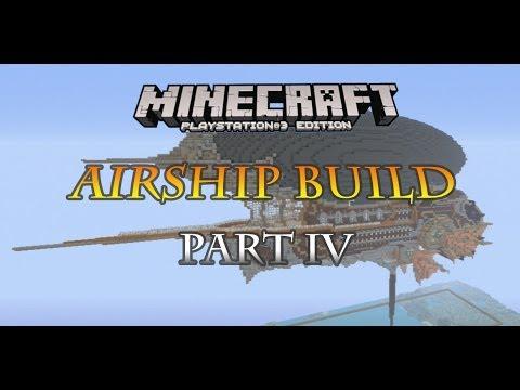 Minecraft PS3 steampunk airship build part 4