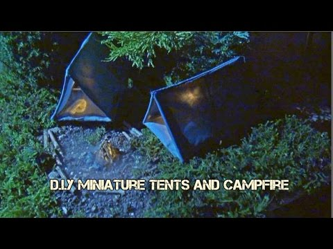 DIY Miniature Tents and Camp Fire (with smoke)