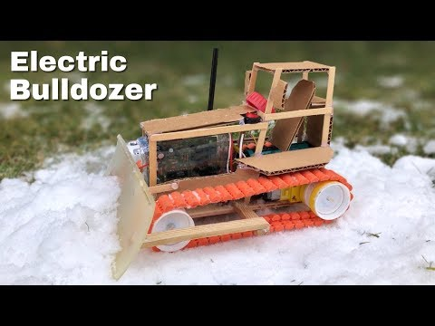 How to Make a Bulldozer (RC Car) - DIY Amazing Snow Cleaning Car