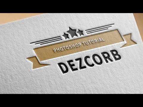How to Create Professional Logo Design in Photoshop cs6 | Tutorial