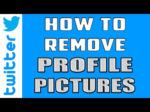 How to Remove Profile Picture in Twitter | How to Change Twitter Profile Picture 2017